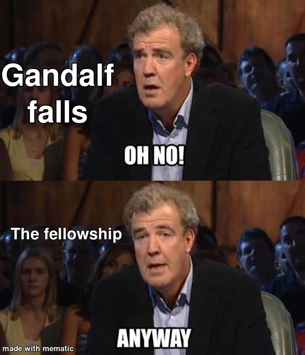 The fellowship of not giving a crap. - meme