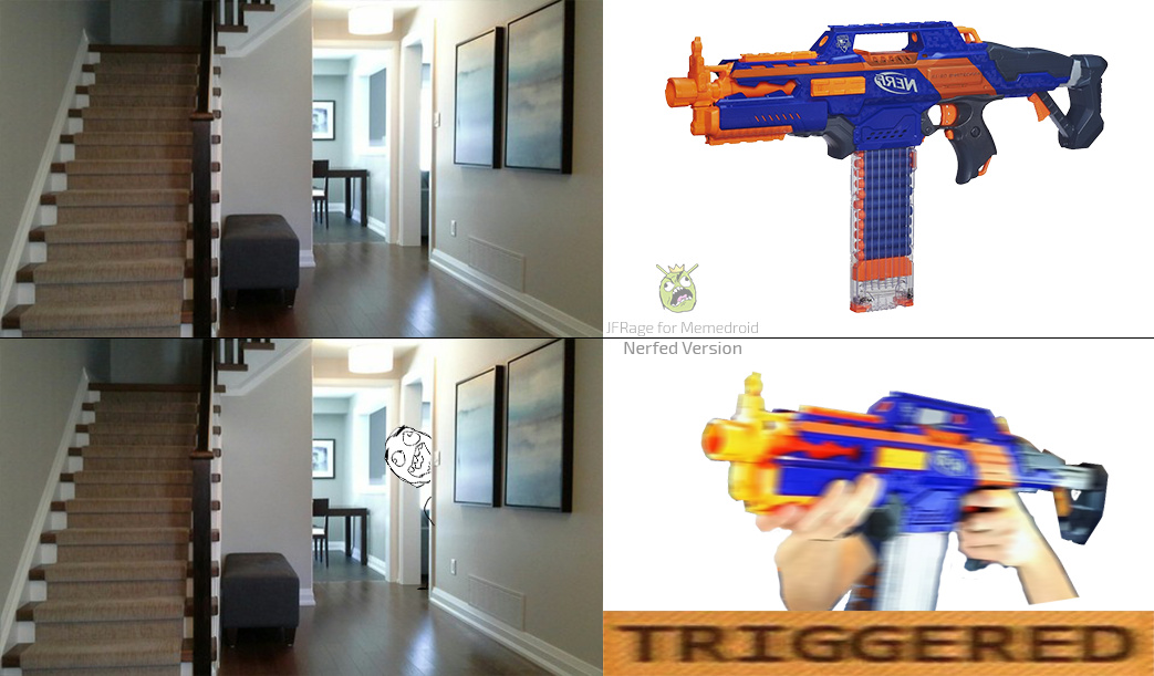 "Triggered meme Parody, had to ""Nerf"" it down because Novagecko didnt accept CS:GO Targets and a real gun :("