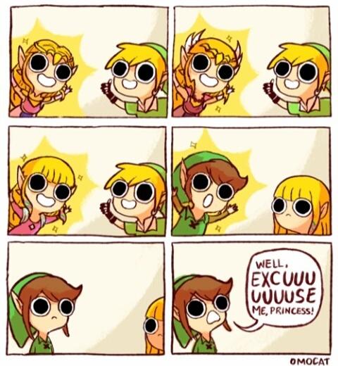 En même temps ce n'est pas magnifique ce changement de coupe alors que Zelda reste toujours magnifique peu importe sa tenue et coupe de cheveux - meme