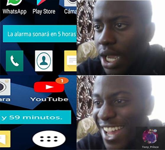 Yo con las alarmas - meme