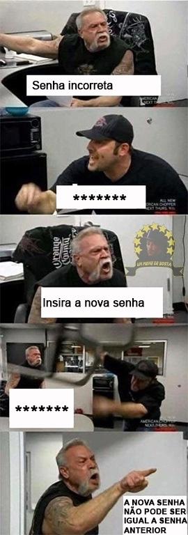senha ******* - meme