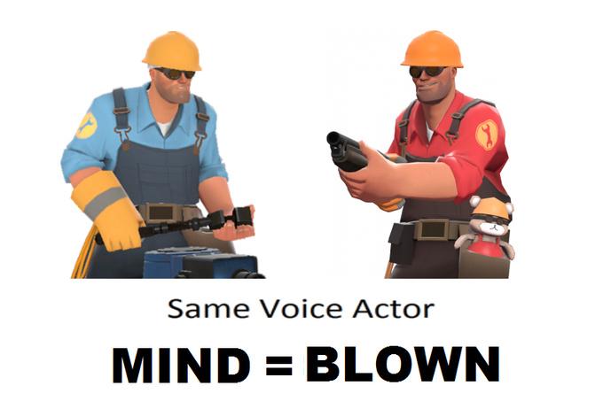 same voice actor! - meme