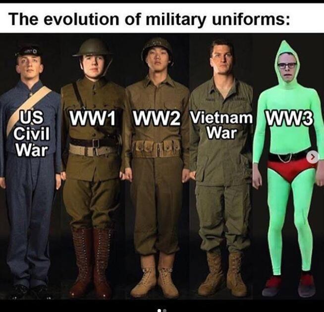 Uniformes militaires - meme