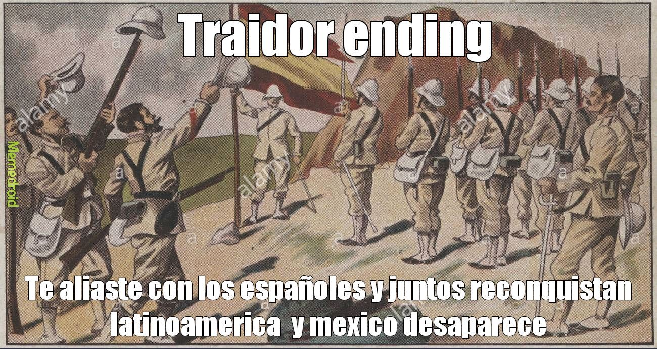 Traidor ending - meme