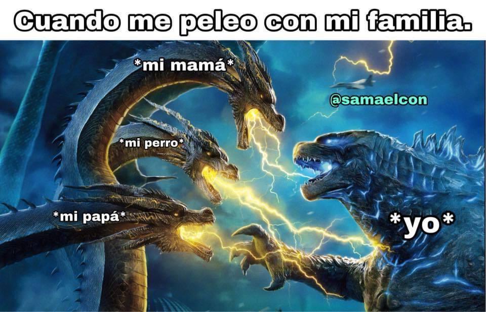Una lucha de titanes - meme