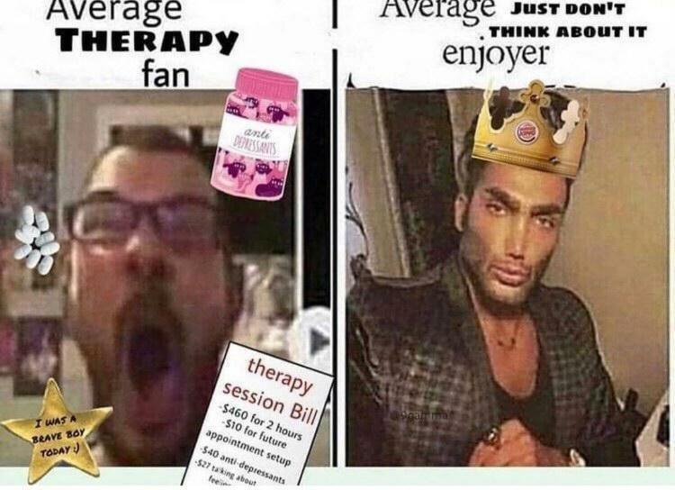 just don't think about it man - meme