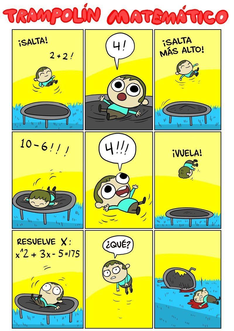 Trampolín Matemático - meme