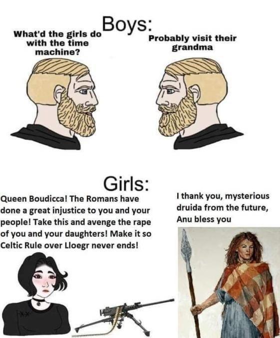 Queen boudicca = Best Queen - meme