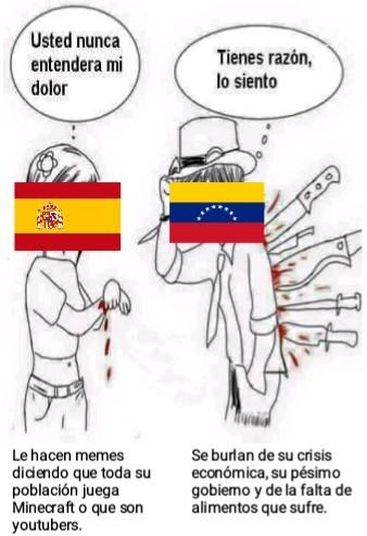 De mi país se burlan diciendo que somos saltamuros, del suyo de que se burlan - meme
