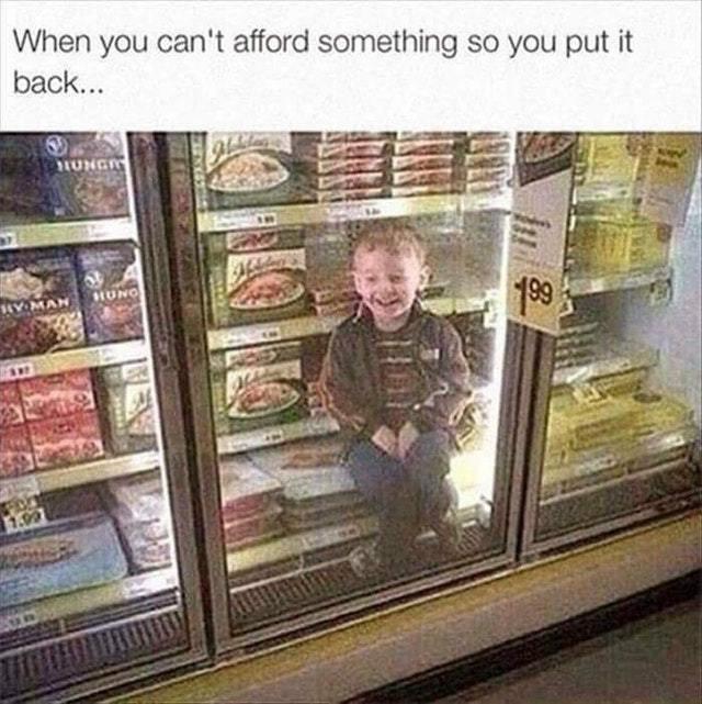 Kids are expensive - meme