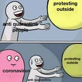 how do you protest staying inside