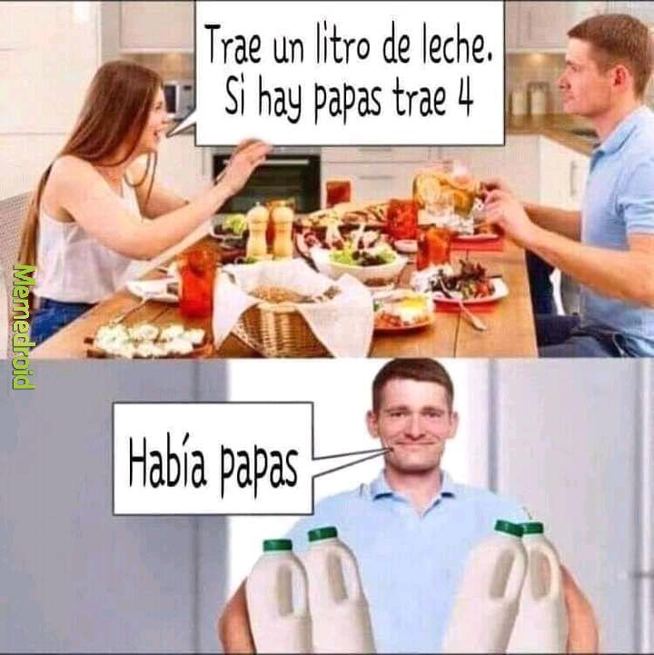 Había papas - meme