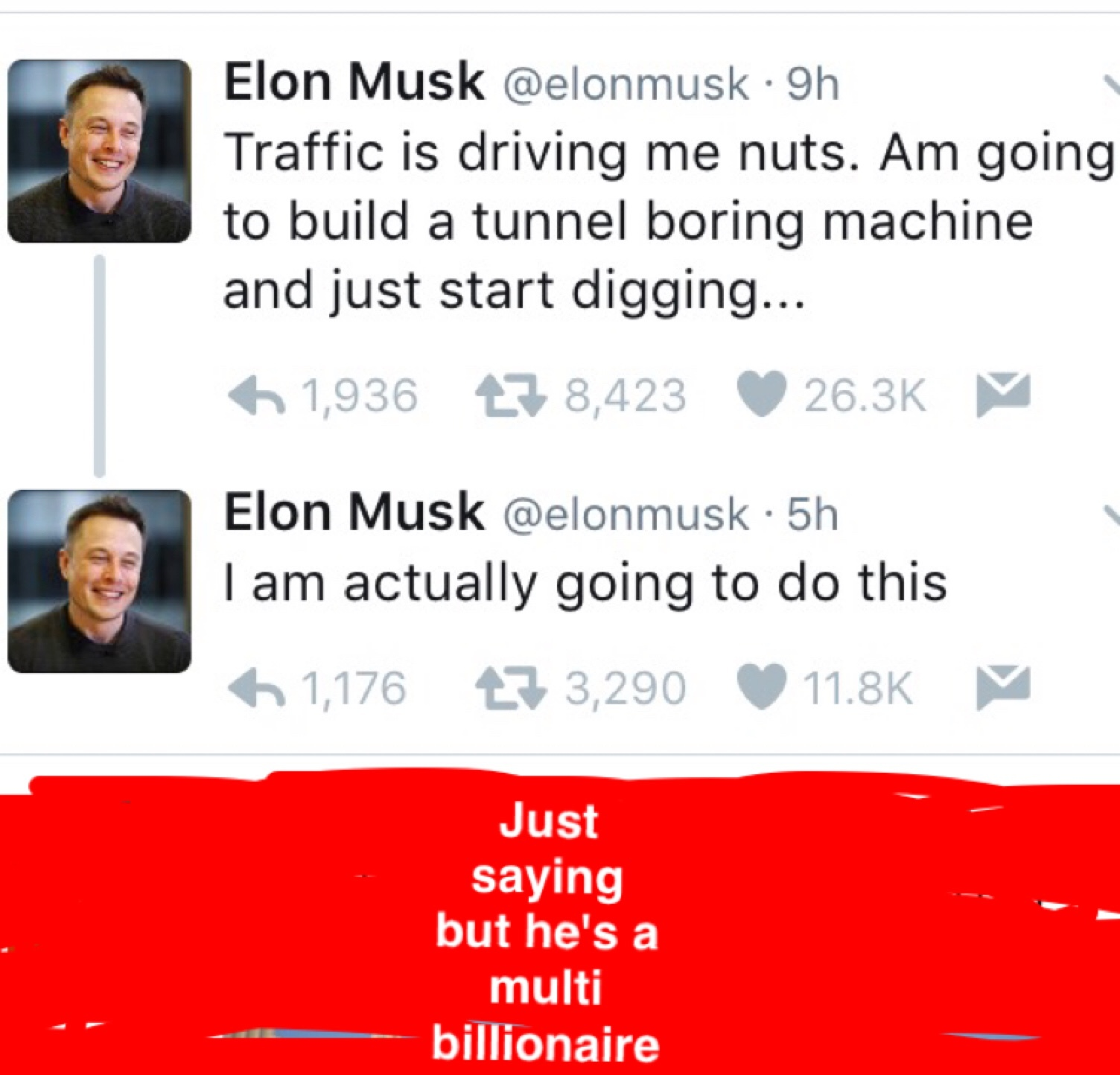 he invented PayPal and spaceX - meme