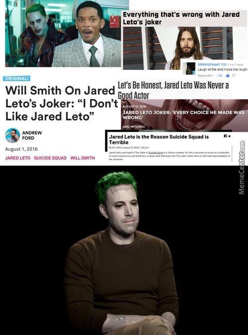 Leto is sad - meme