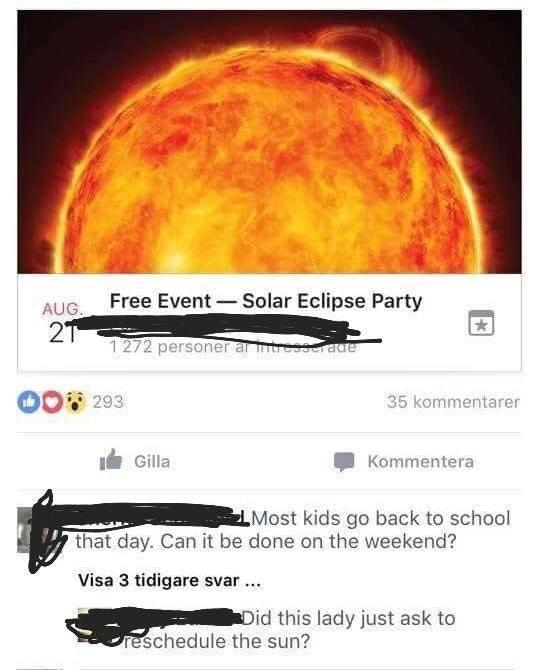 Can we please reschedule this eclipse? - meme