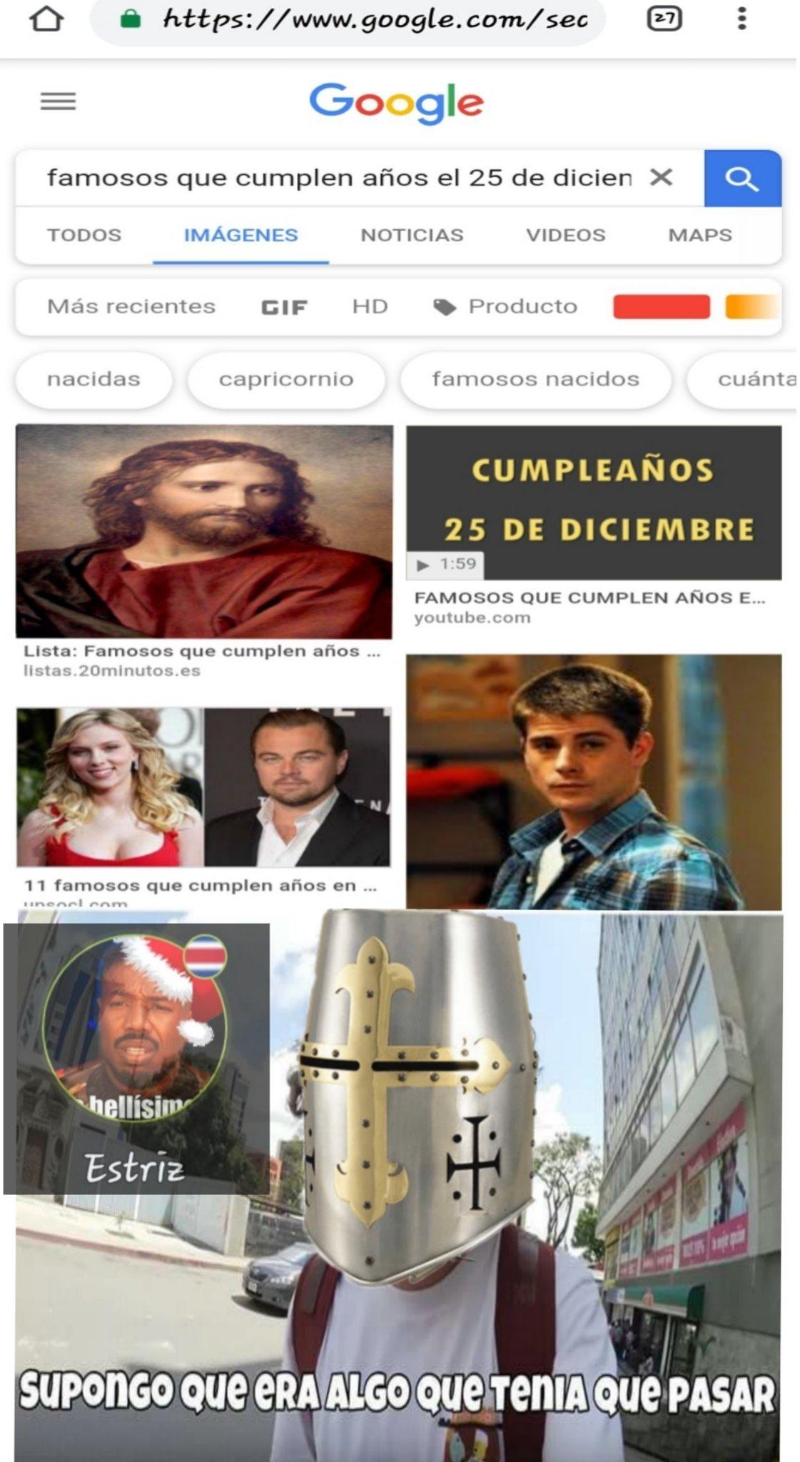 El meme se trata sobre jesus y los templarios