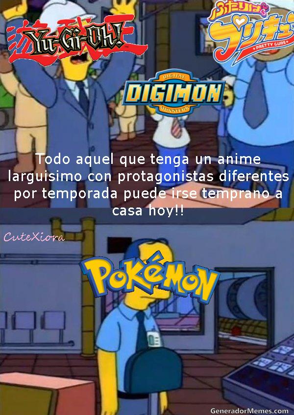 Y eso que la saga de Pokemon tiene diferentes protagonistas - meme