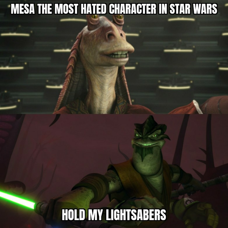 Who is the most hated character in star wars? - meme
