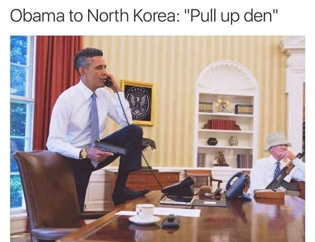 stop bluffing Kim - meme