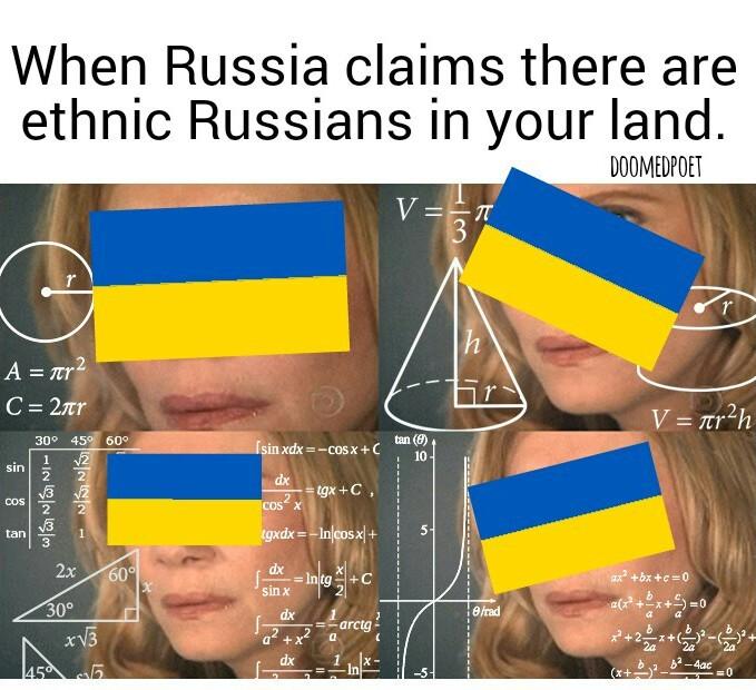 Crimea is Ukrainian land! - meme