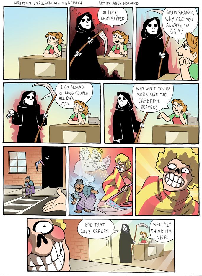 I think I prefer the Grim Reaper - meme