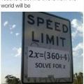 X = 45, so 45 miles per hour