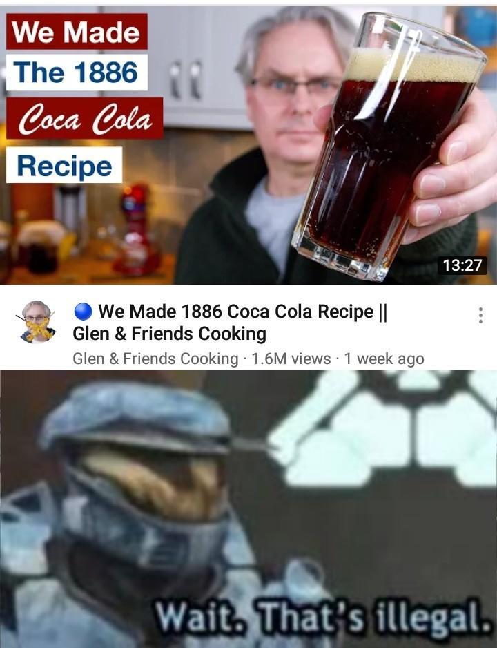 Cocaine recipe necessary - meme