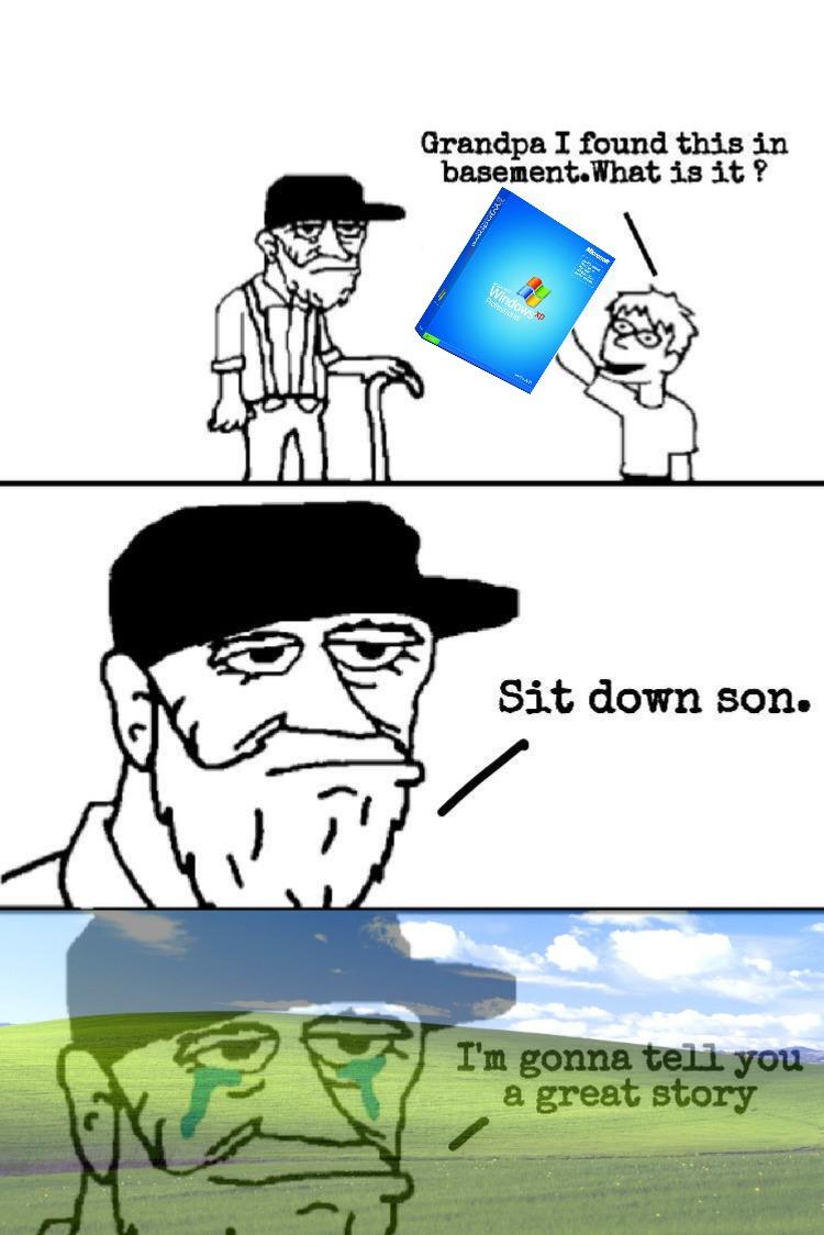 Happy 20th birthday Windows XP! - meme