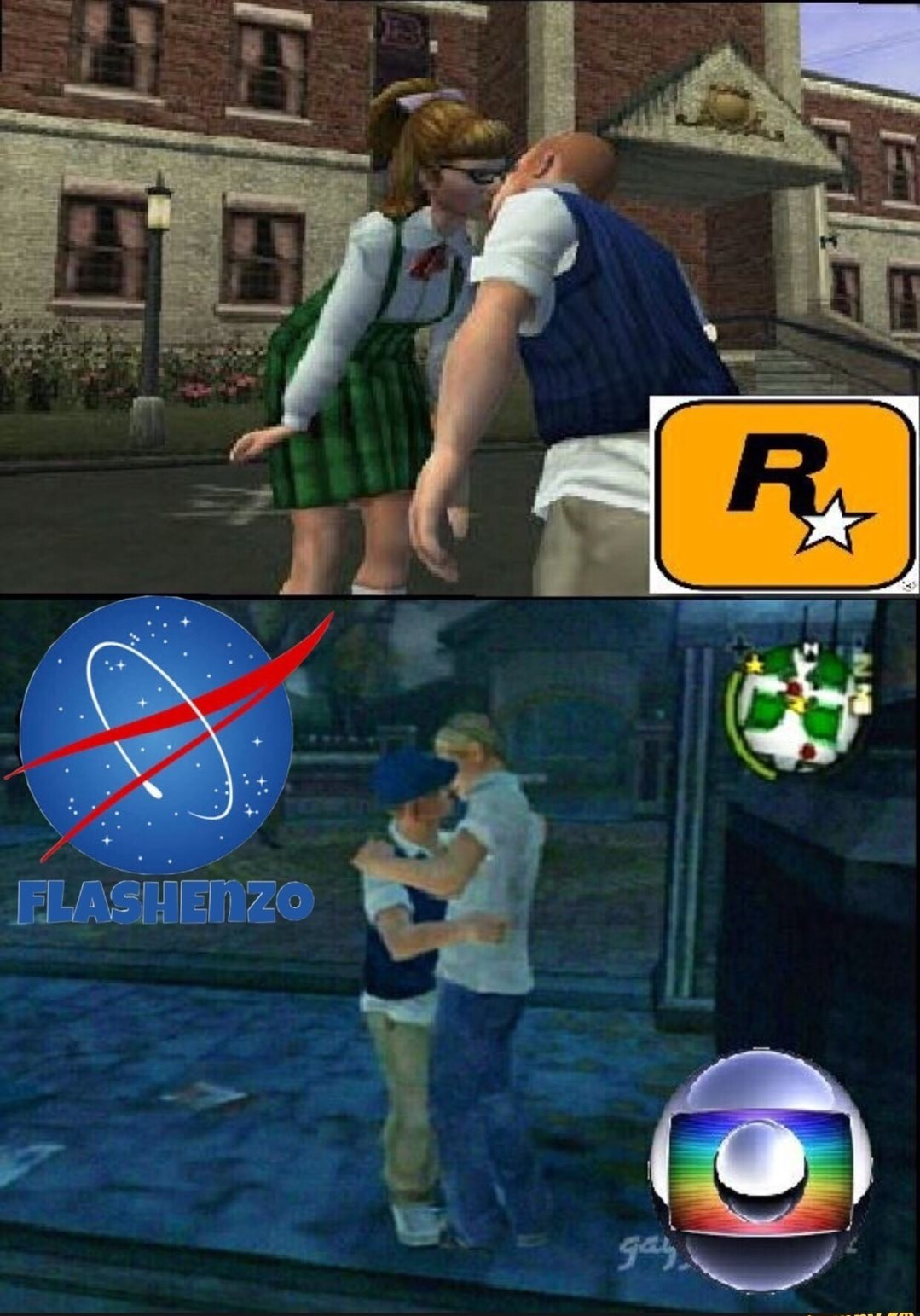 Globo lixo - meme