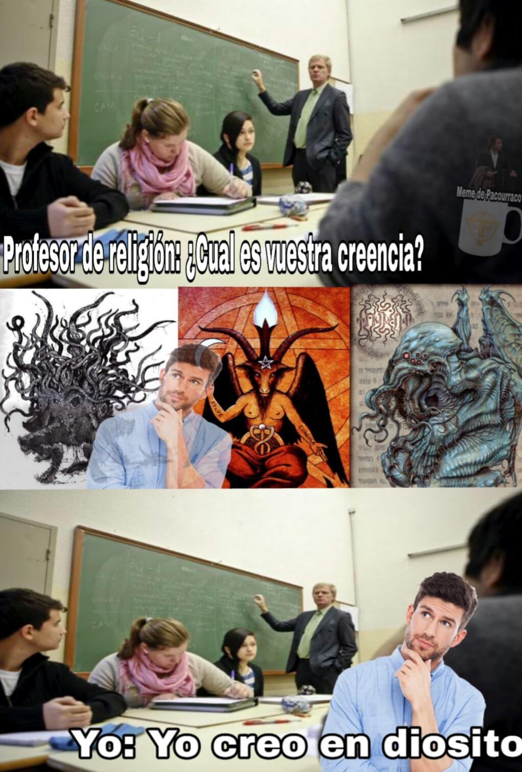 Es que nuestro colegio es católico - meme