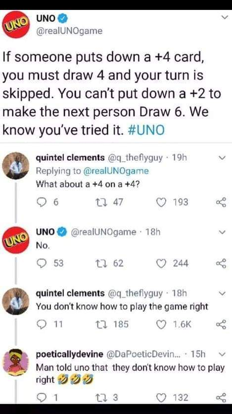Take that UNO - meme