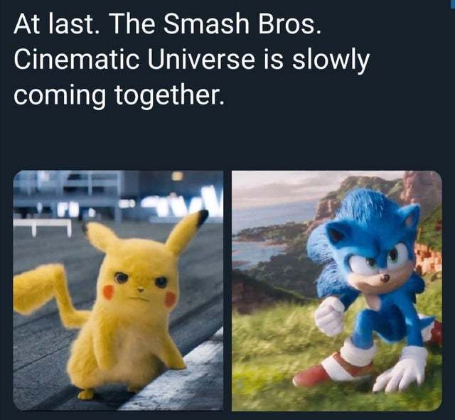 At last the Smash Bros Cinematic Universe is slowly coming together - meme