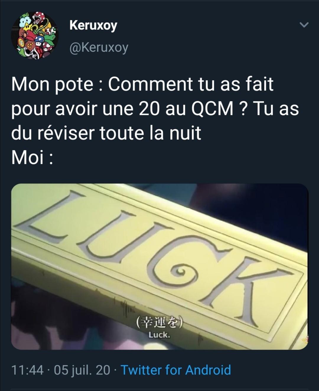 QCM - meme