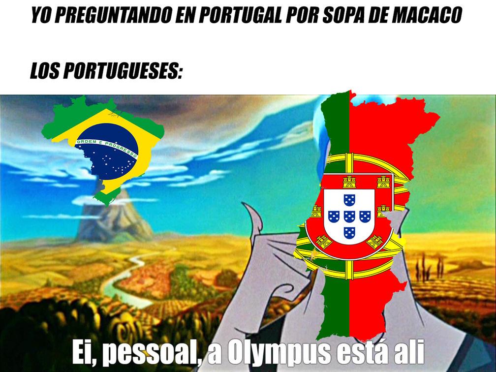 voce fala portugues? então vá para a concha do papagaio - meme