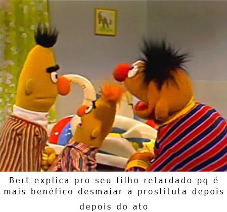 bert é um otimo pai - meme