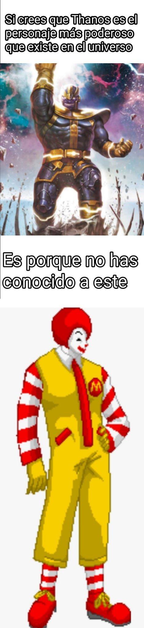 Ronald MC Donald siempre será invencible - meme