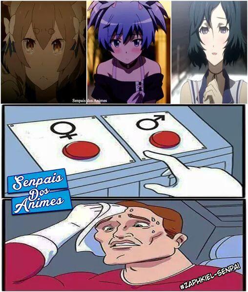 Ih,fudeu..(tirinha original por senpais dos animes no facebook) - meme