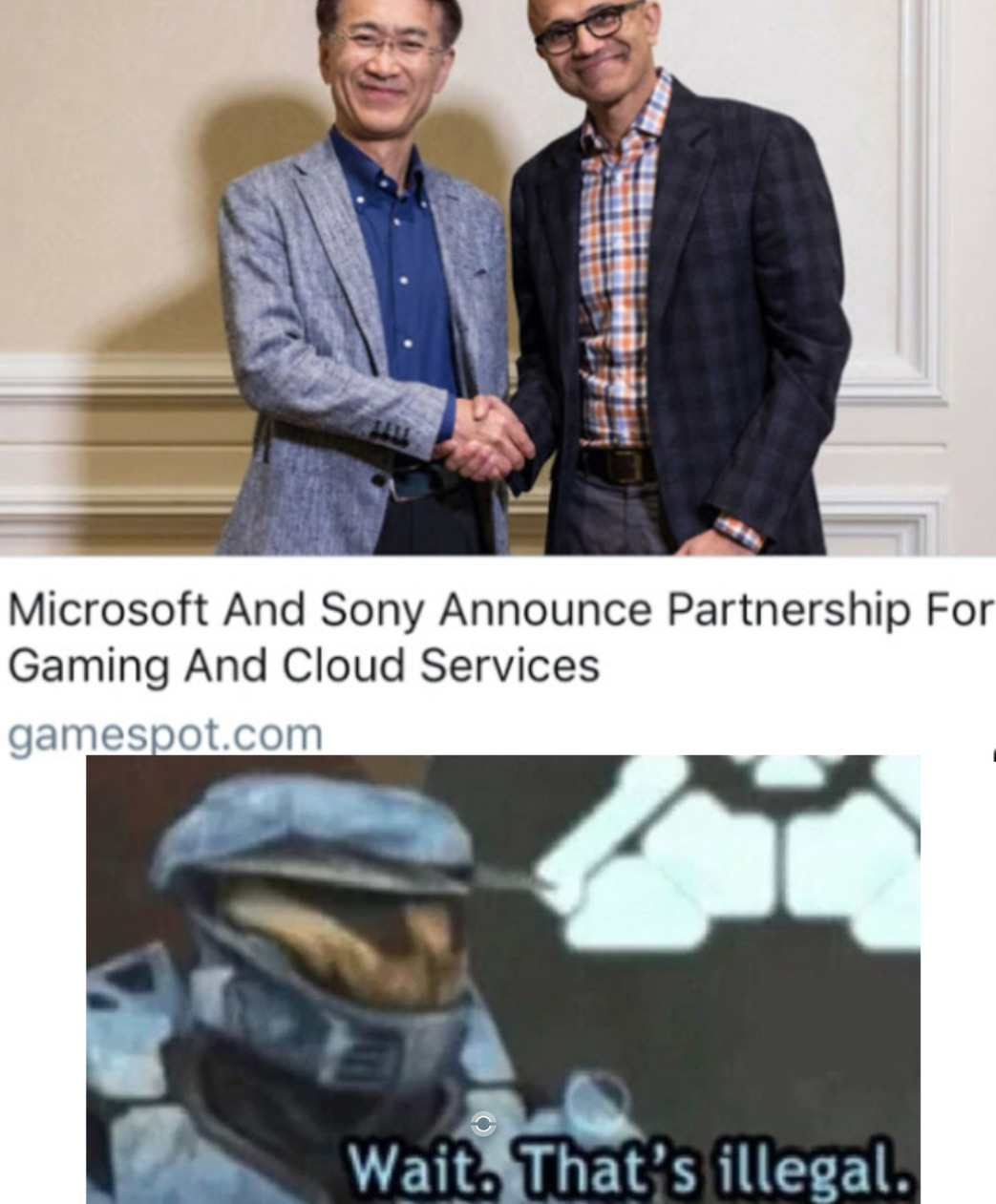 Oof. That's illegal - meme