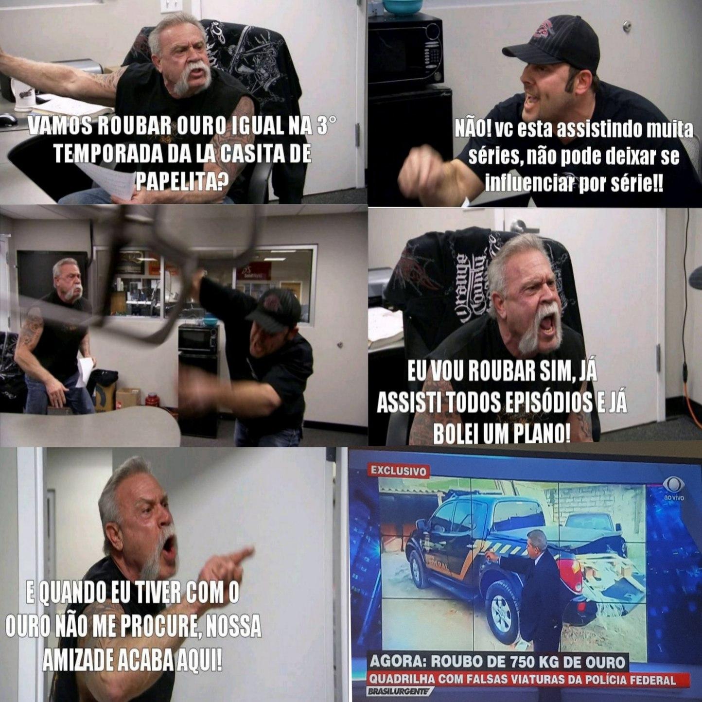 Lá Casa De Papel Higiênico - meme