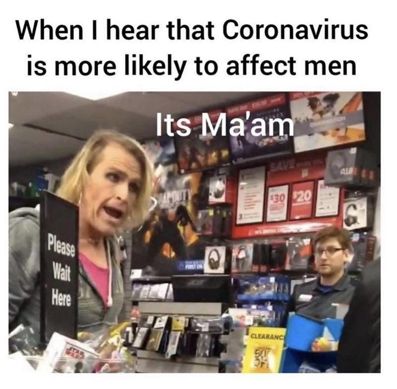 Must be sexism - meme