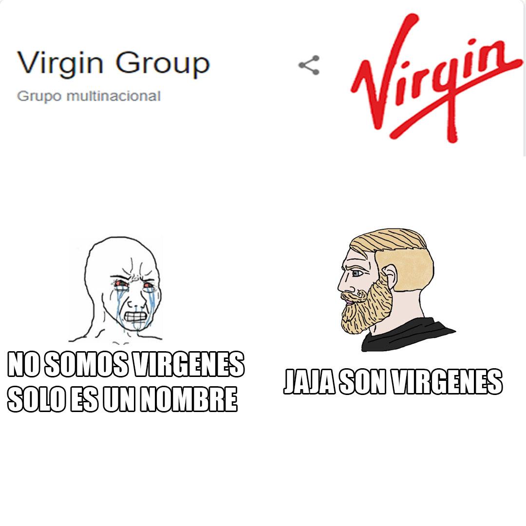 Busque virgin en google y salio eso xd - meme