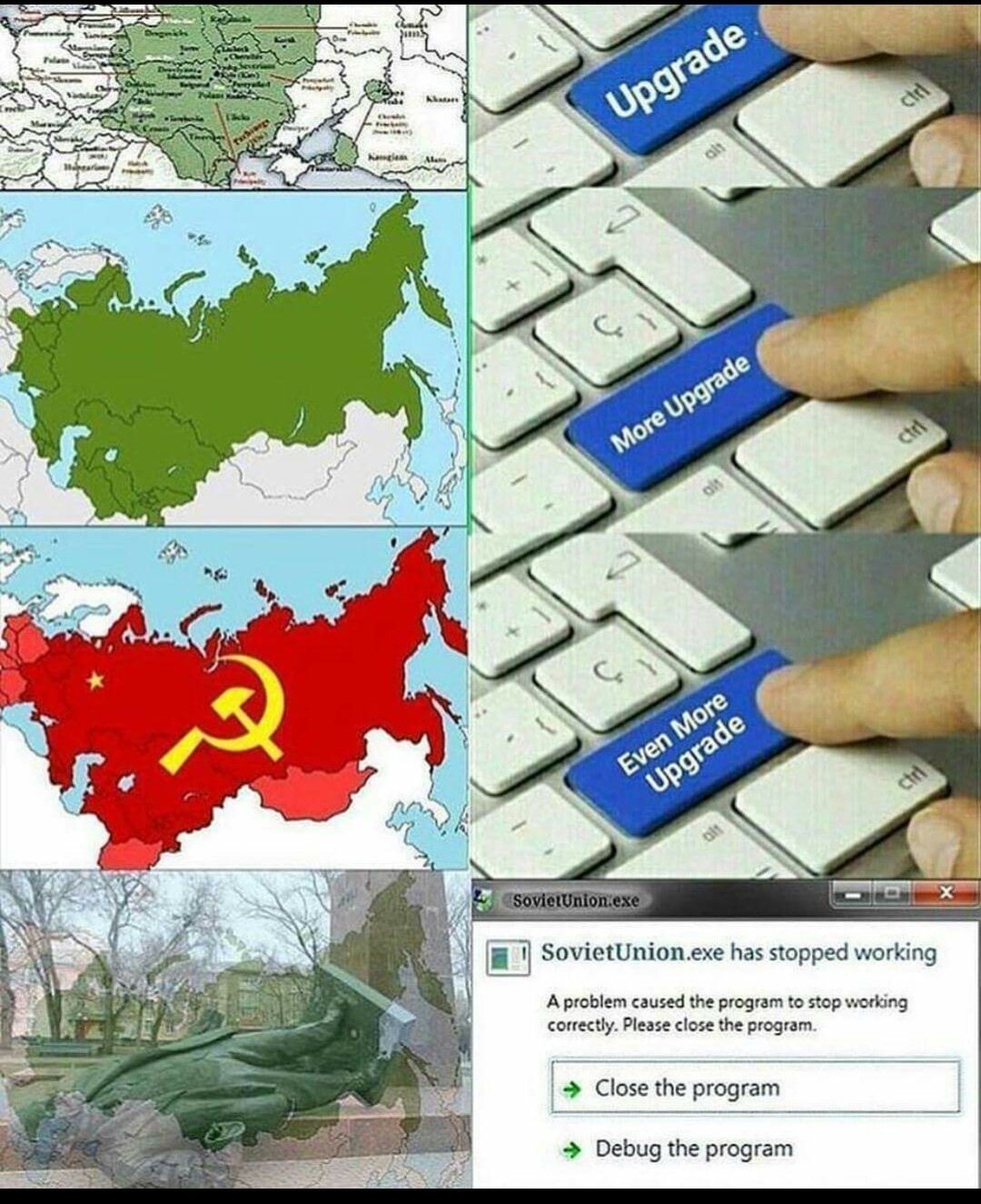 Breve historia de Rusia - meme
