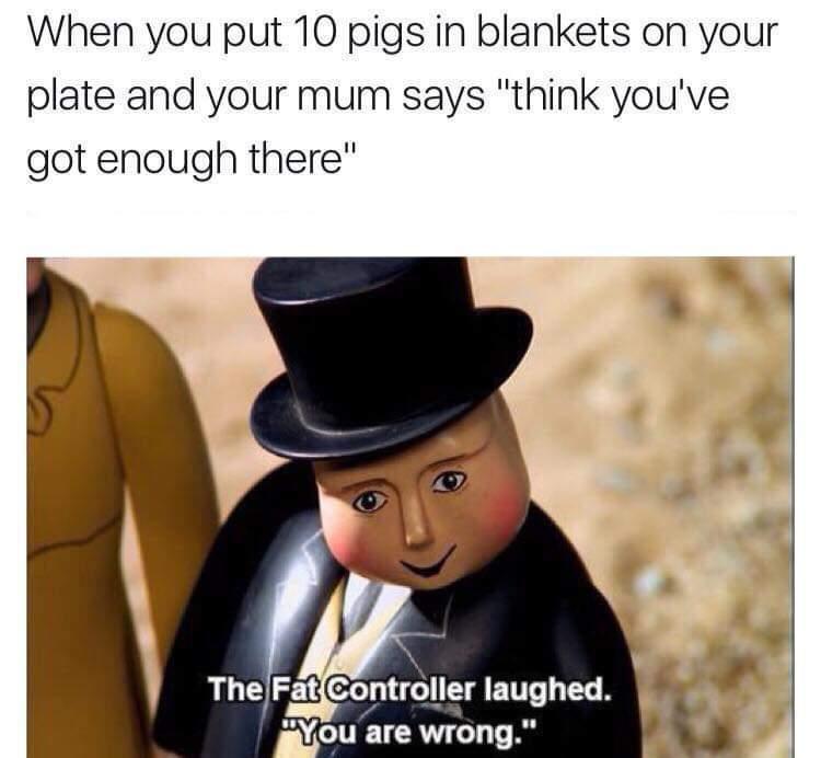 Pigs in blankets - meme