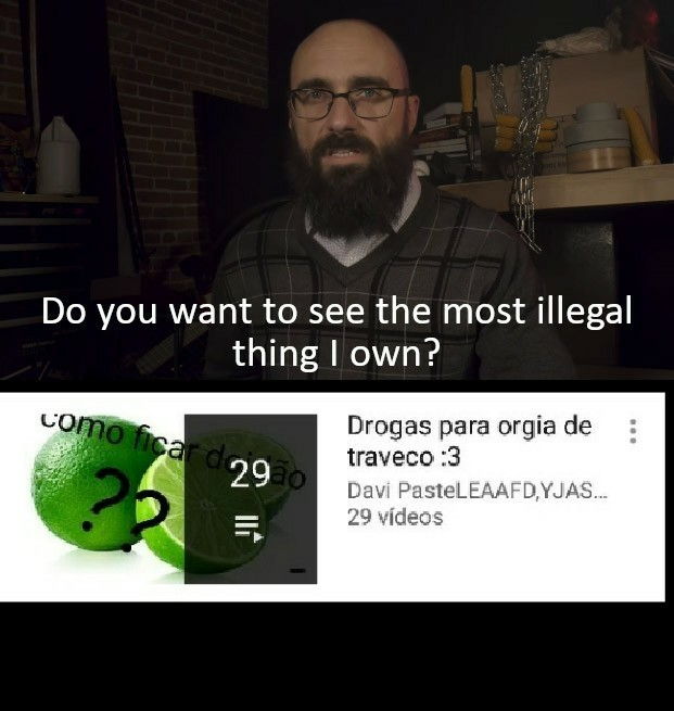 O youtube me sugere cada uma - meme
