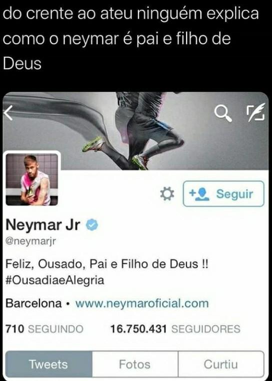 Neymar se tornou onipotente após usar seu moicano apurado - meme