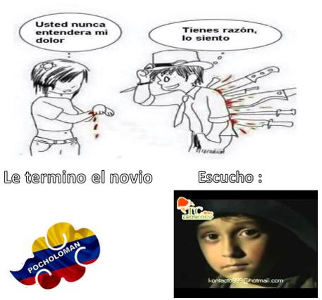 contexto: acá en Colombia esa canción (mejor dicho villancico) era muy deprimente(que malp@rid@ cancion tan tr1zte) - meme