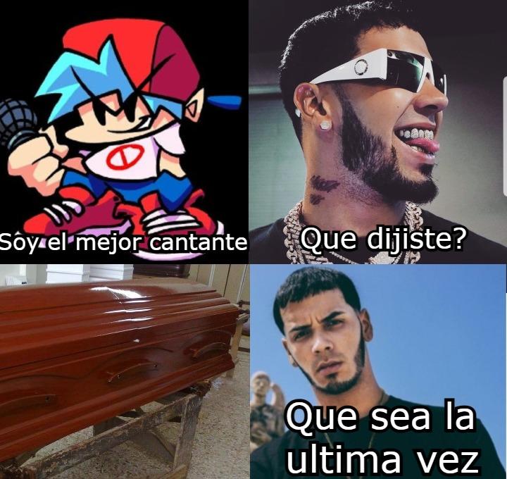 Anuel AA >>> FNF - meme