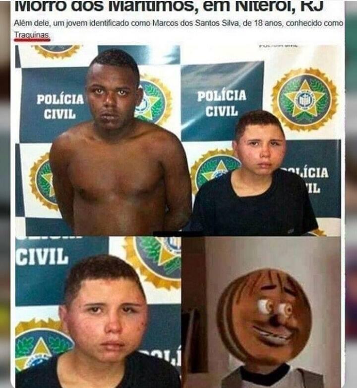 Recheado de Criminalidade - meme