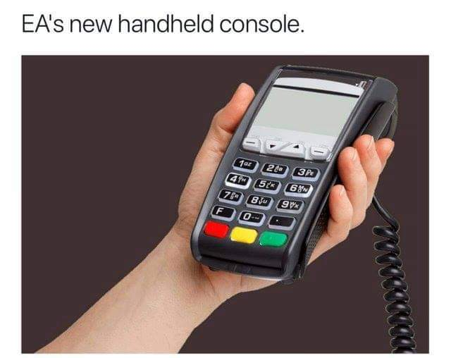 EAs new hand held console - meme