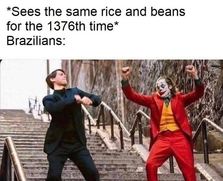Brasileiro nem é gente - meme